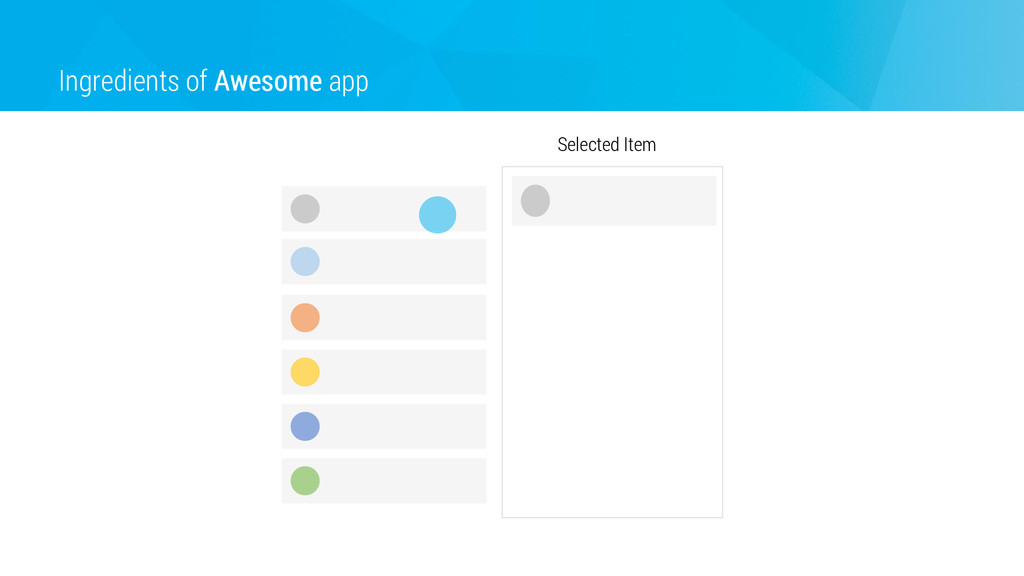 Ingredients of Awesome app Selected Item