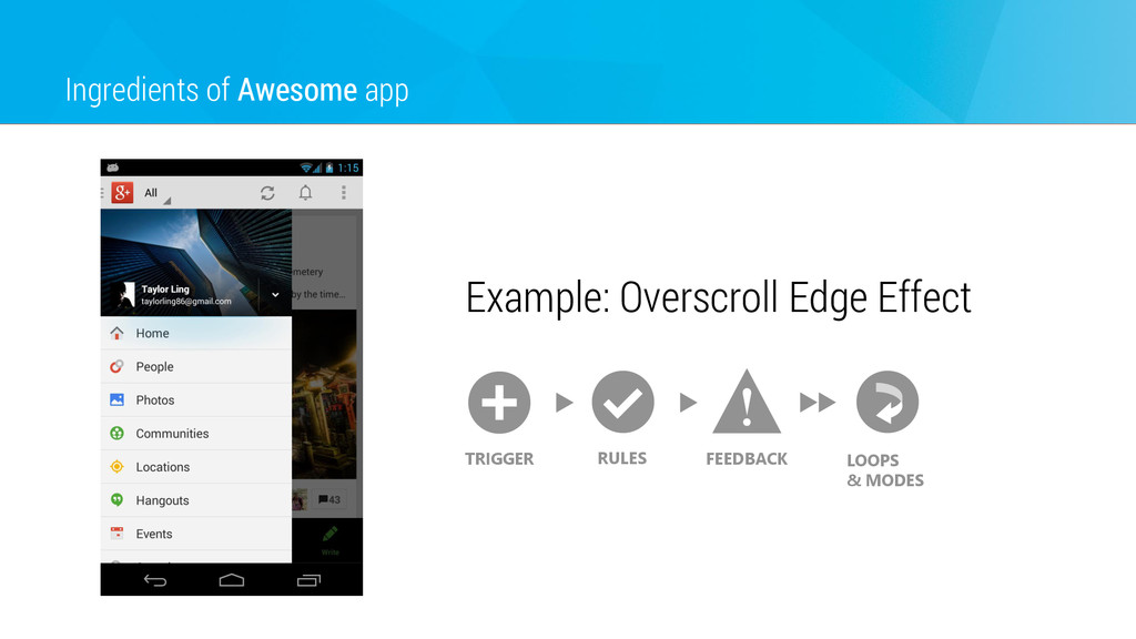 Ingredients of Awesome app Example: Overscroll ...