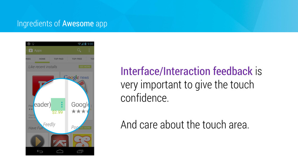 Ingredients of Awesome app Interface/Interactio...