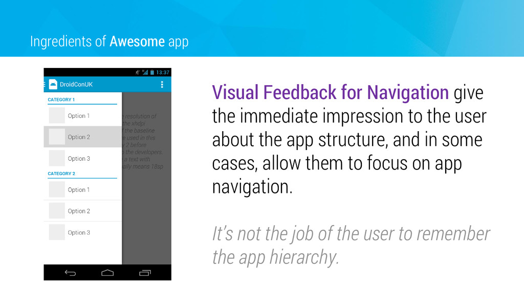 Ingredients of Awesome app Visual Feedback for ...