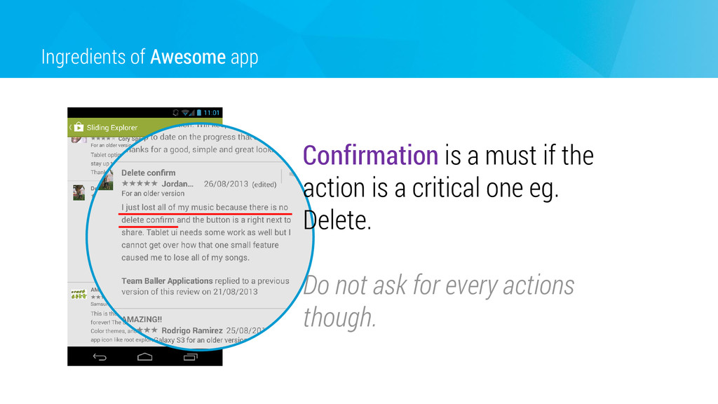 Ingredients of Awesome app Confirmation is a mu...