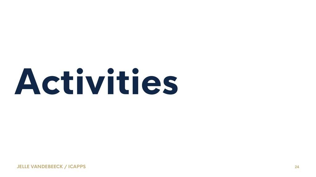 Activities JELLE VANDEBEECK / ICAPPS 24