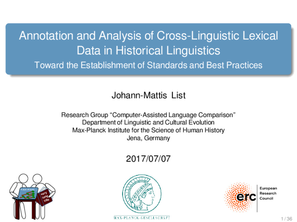 Annotation and Analysis of Cross-Linguistic Lex...