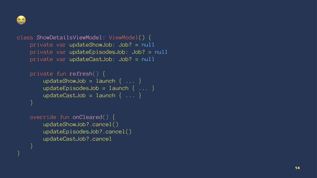 ! class ShowDetailsViewModel: ViewModel() { pri...