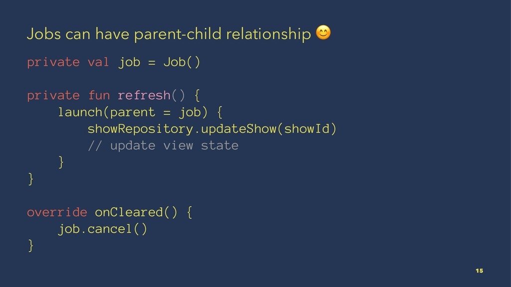 Jobs can have parent-child relationship ! priva...