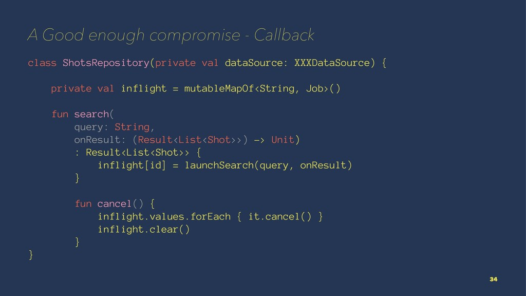 A Good enough compromise - Callback class Shots...
