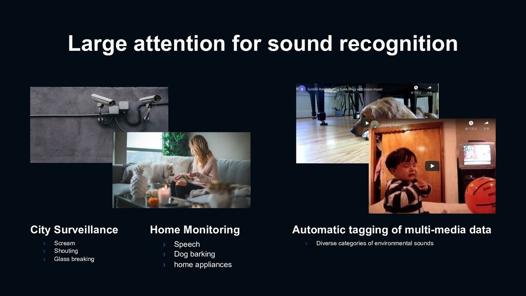 Large attention for sound recognition Automatic...