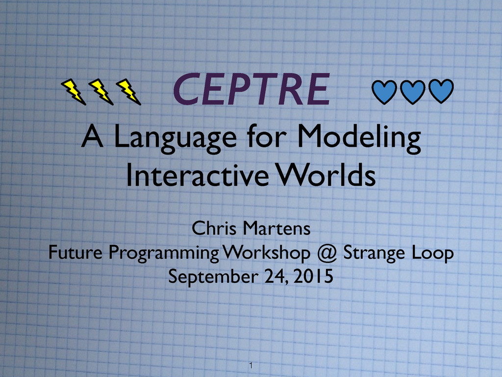1 CEPTRE A Language for Modeling   Interactiv...