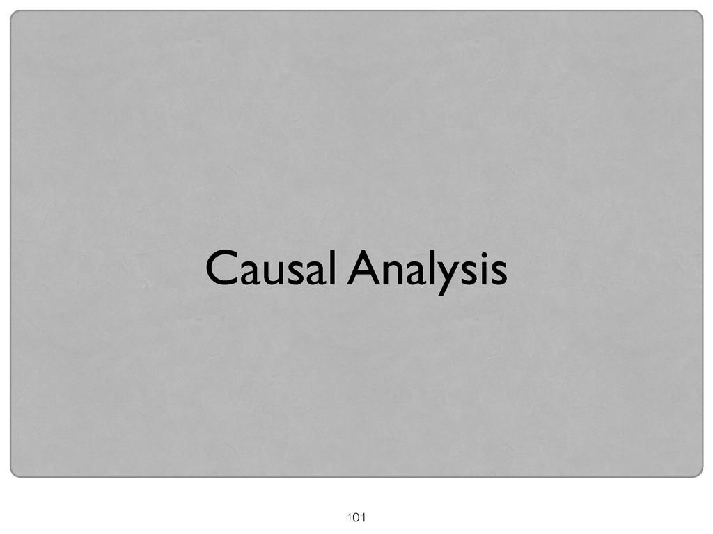 Causal Analysis 101