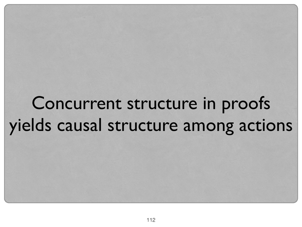 Concurrent structure in proofs  yields causal...