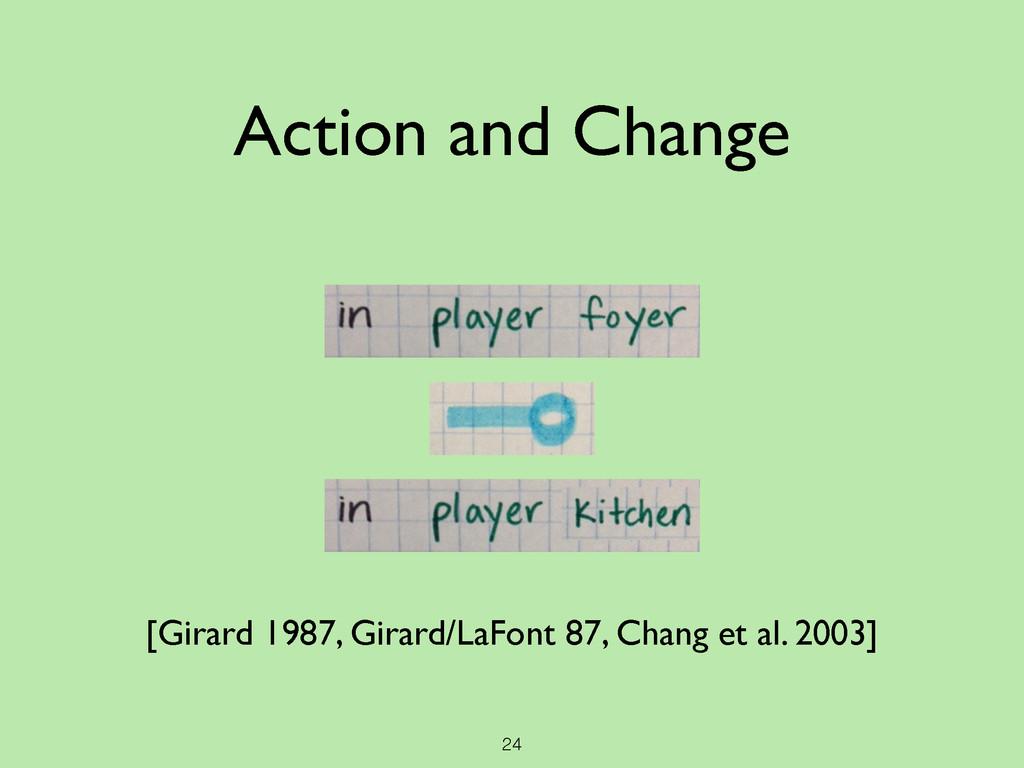 24 Action and Change [Girard 1987, Girard/LaFon...