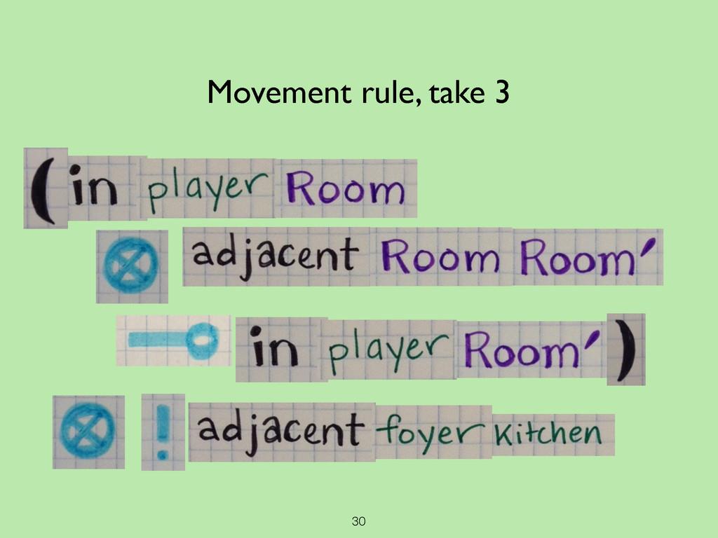 30 Movement rule, take 3