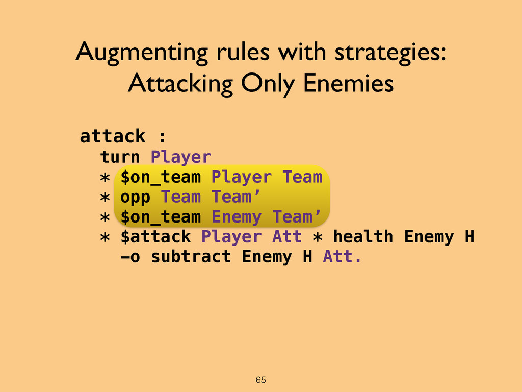 attack : turn Player * $on_team Player Team * o...