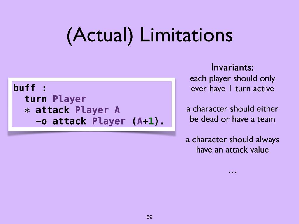69 (Actual) Limitations buff : turn Player * at...
