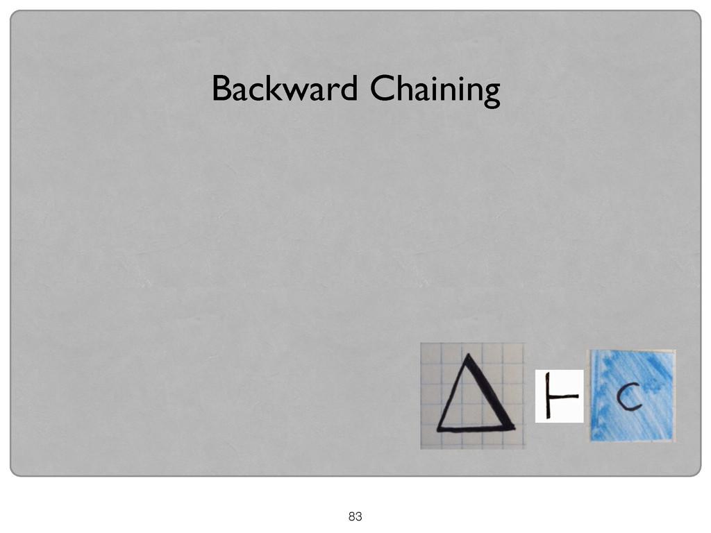 Backward Chaining 83