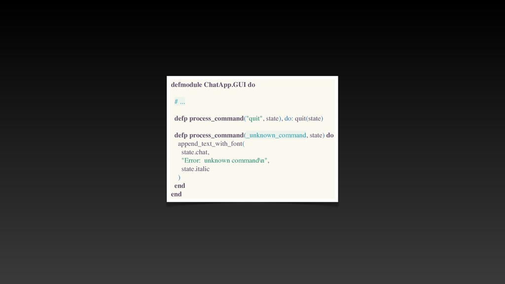 defmodule ChatApp.GUI do # .. .  defp process_c...