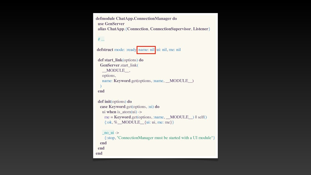 defmodule ChatApp.ConnectionManager do use GenS...