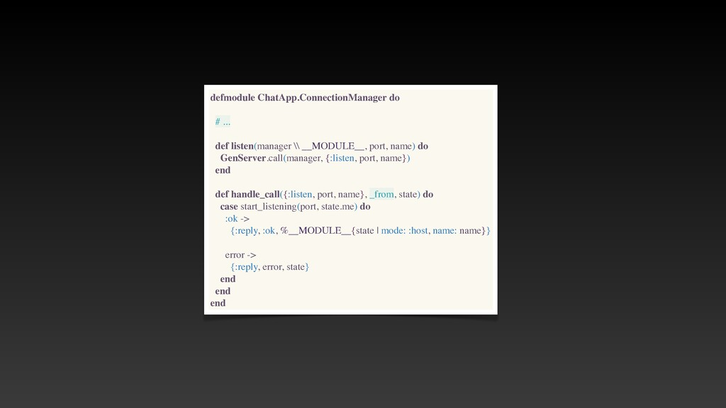 defmodule ChatApp.ConnectionManager do # .. .  ...