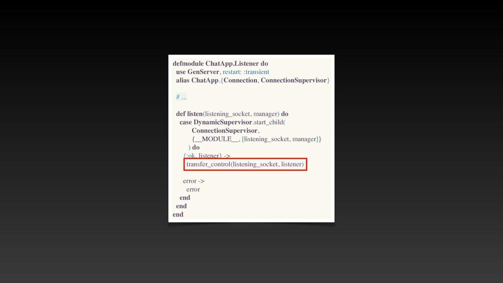 defmodule ChatApp.Listener do use GenServer, re...