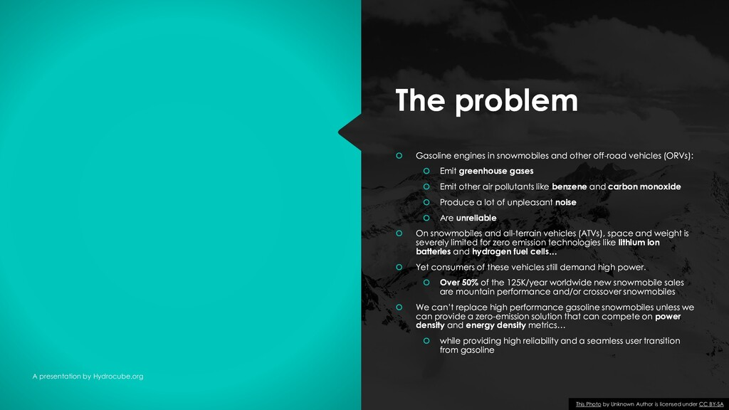 The problem The problem A presentation by Hydro...