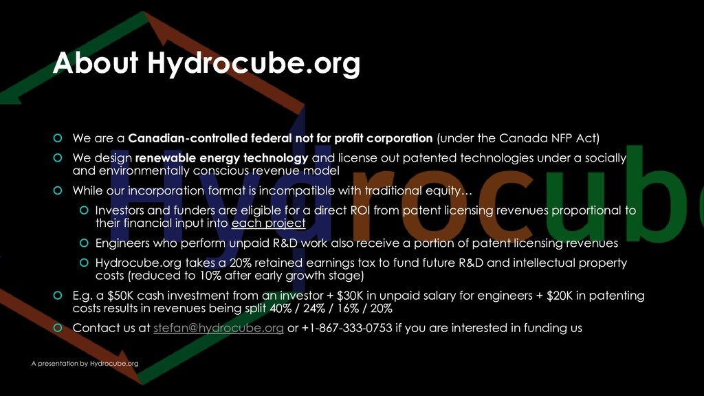 About Hydrocube.org About Hydrocube.org  We ar...