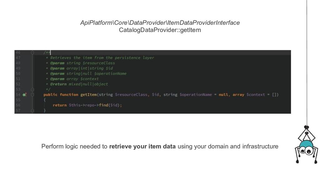 ApiPlatform\Core\DataProvider\ItemDataProviderI...