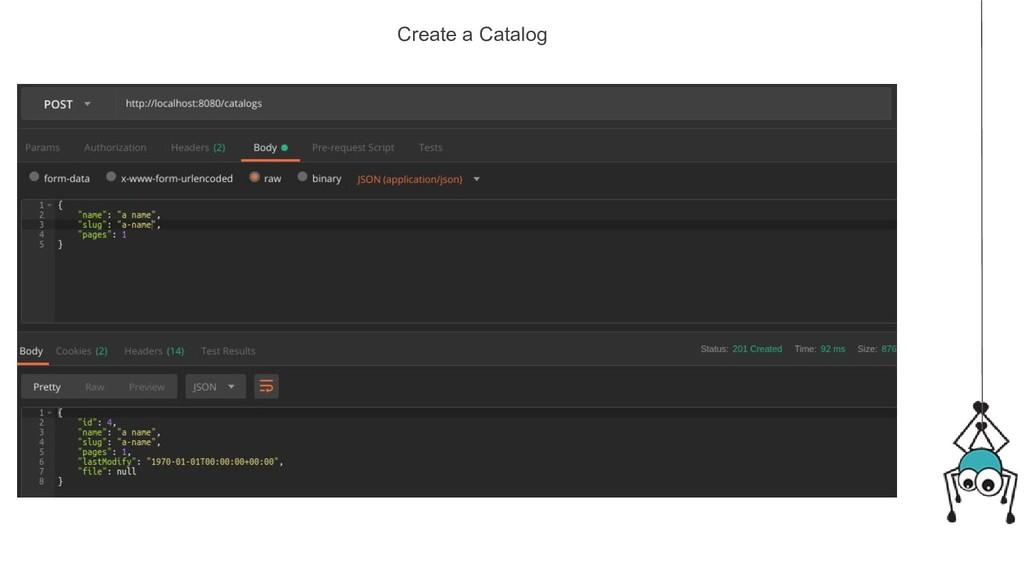 Create a Catalog