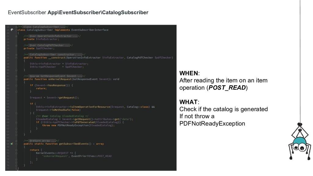 EventSubscriber App\EventSubscriber\CatalogSubs...