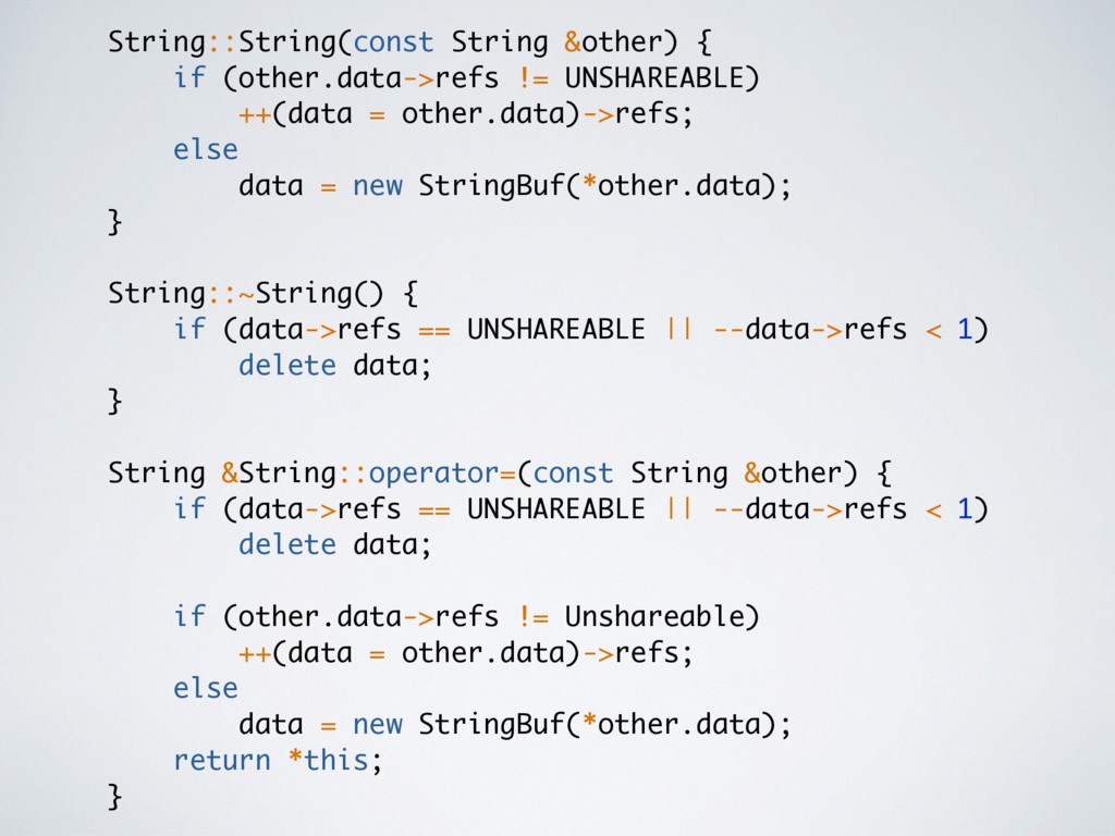String::String(const String &other) { if (other...