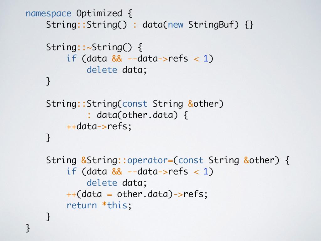 namespace Optimized { String::String() : data(n...