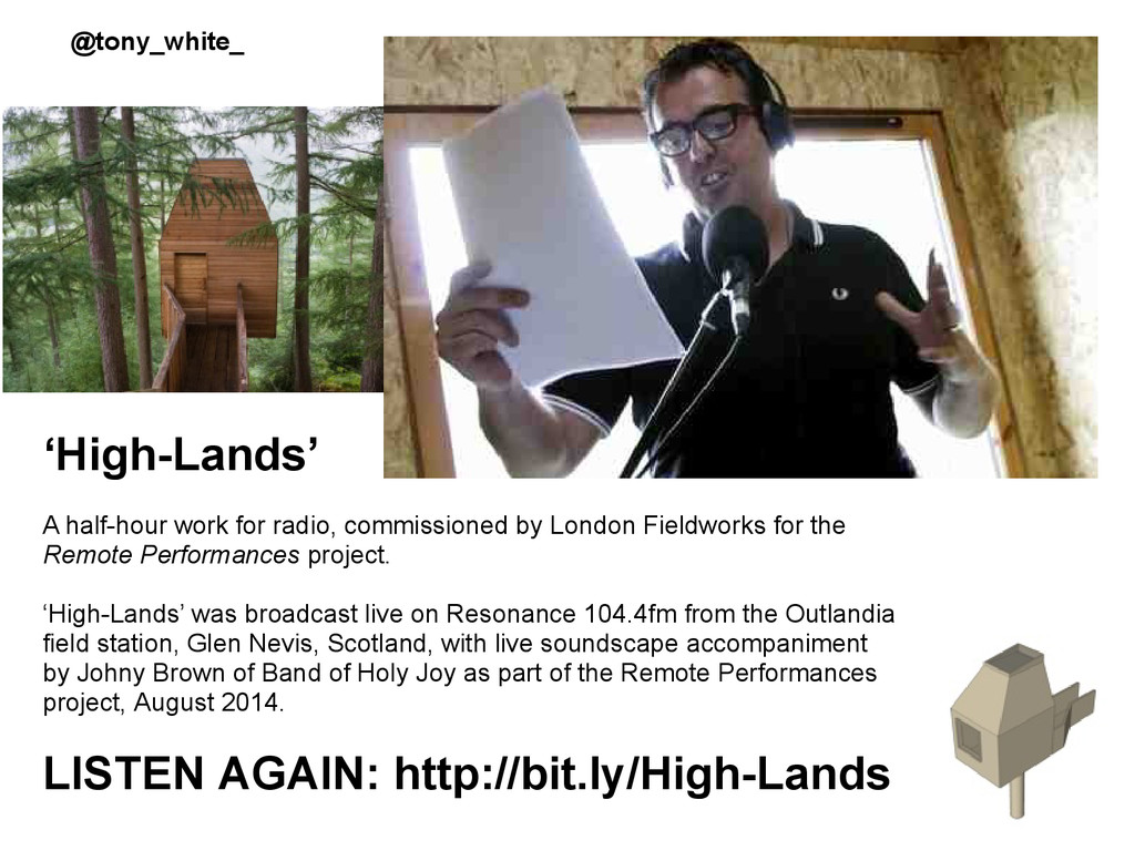 'High-Lands' A half-hour work for radio, commis...