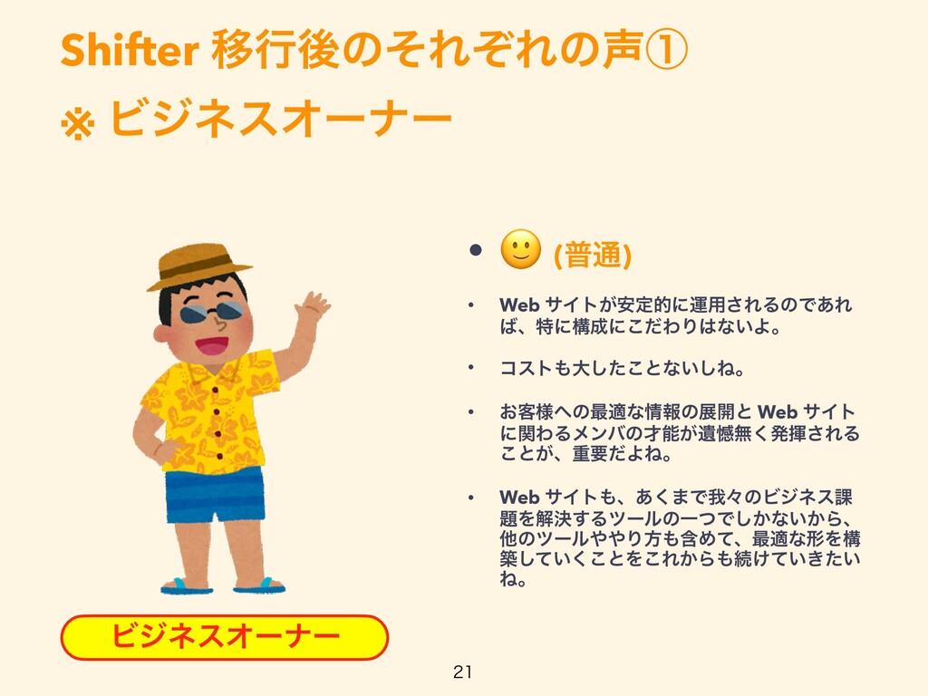 Shifter ҠߦޙͷͦΕͧΕͷᶃ   ※ ϏδωεΦʔφʔ  ϏδωεΦʔφʔ • ...