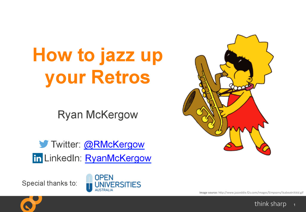 1 How to jazz up your Retros Ryan McKergow Twit...