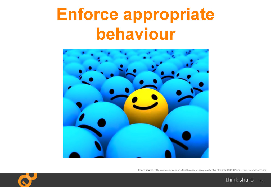 14 Enforce appropriate behaviour Image	