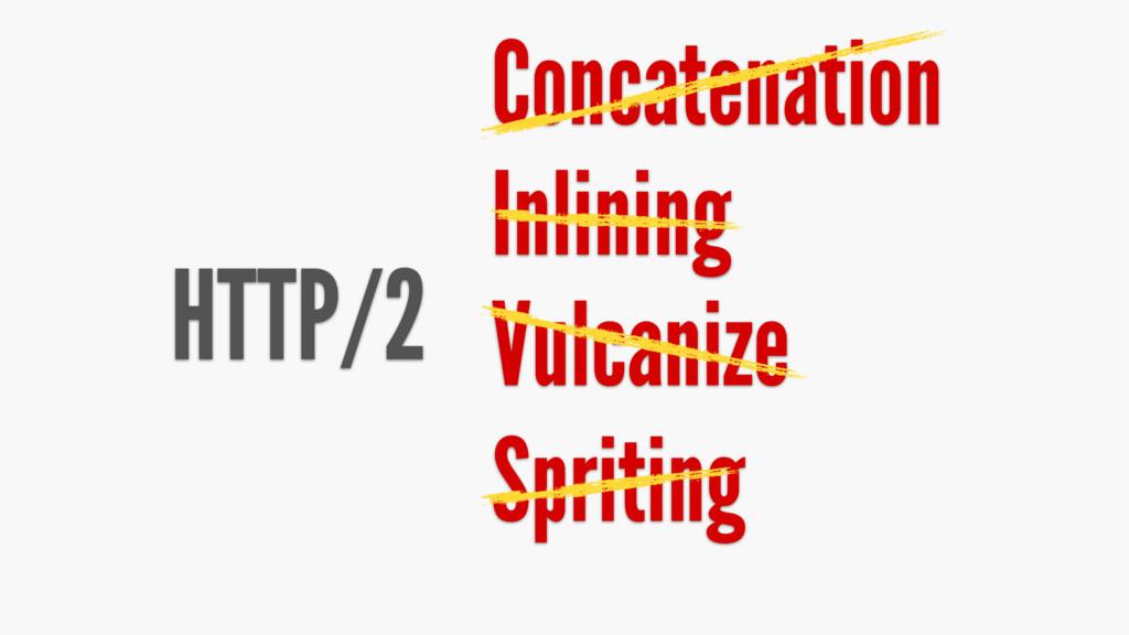 HTTP/2 Concatenation Inlining Vulcanize Spriting
