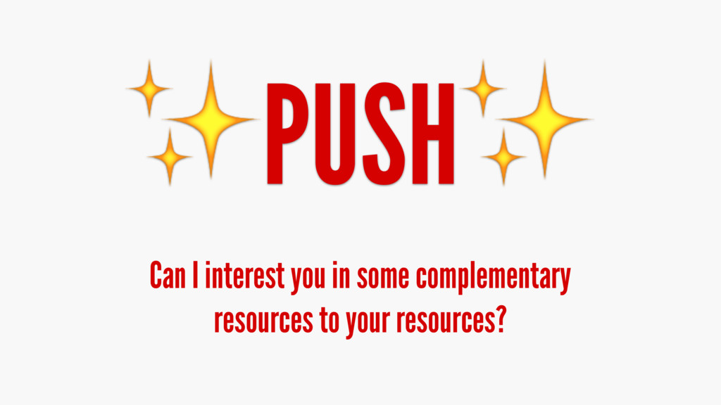 ✨PUSH✨ Can I interest you in some complementary...