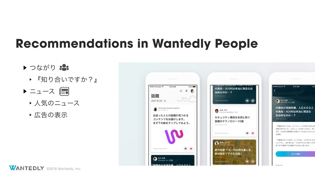©2018 Wantedly, Inc. Recommendations in Wantedl...