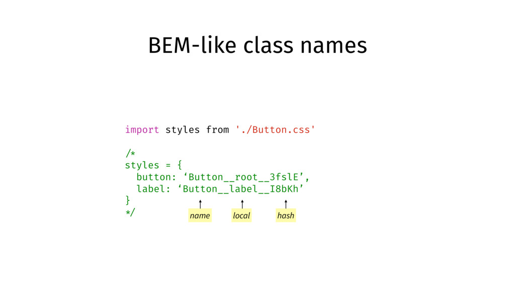 import styles from './Button.css' /* styles = {...