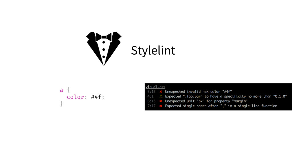 Stylelint a { color: #4f; }