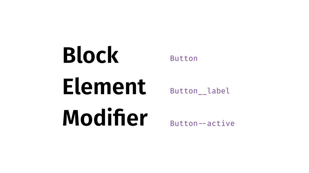 B E M Block Element Modifier Button Button__labe...