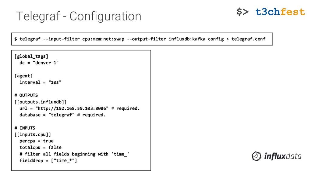 Telegraf - Configuration $ telegraf --input-fil...
