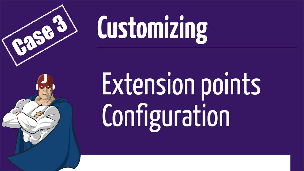 Extension points Configuration Customizing Case...