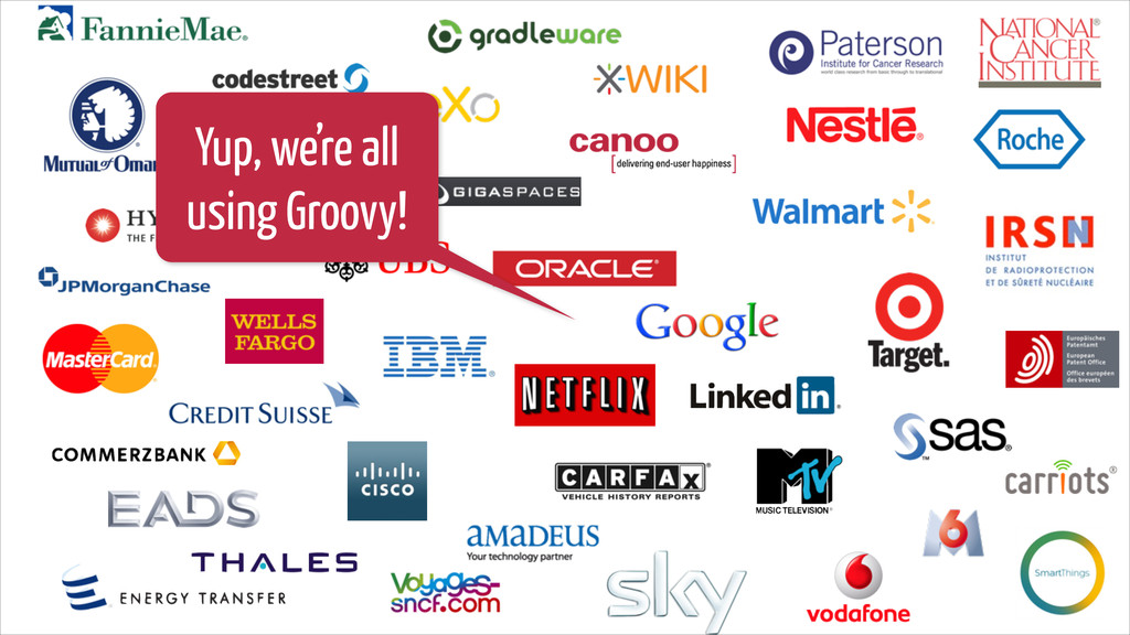 Yup, we're all using Groovy!