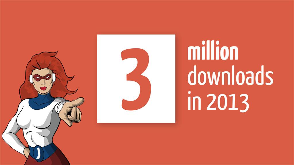 million  downloads in 2013 3