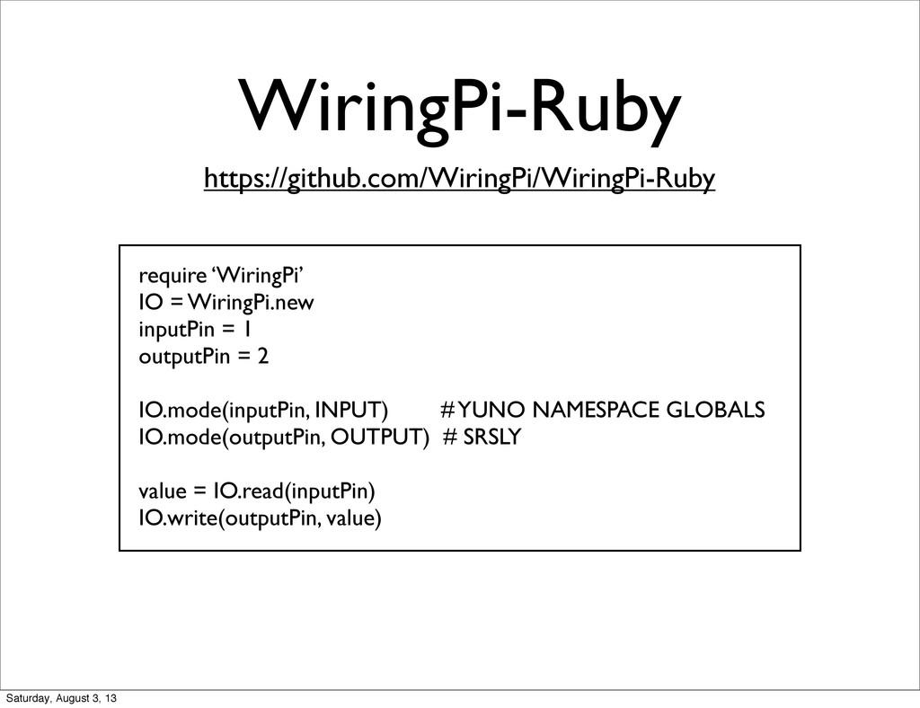 WiringPi-Ruby https://github.com/WiringPi/Wirin...