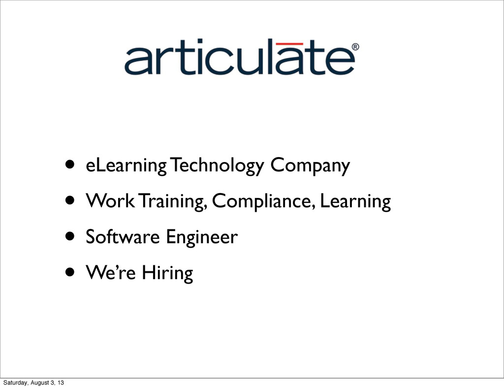 • eLearning Technology Company • Work Training,...