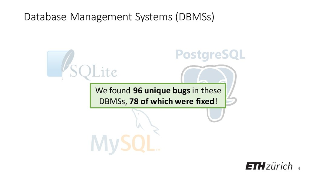 4 Database Management Systems (DBMSs) PostgreSQ...