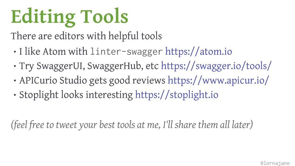 Editing Tools There are editors with helpful to...