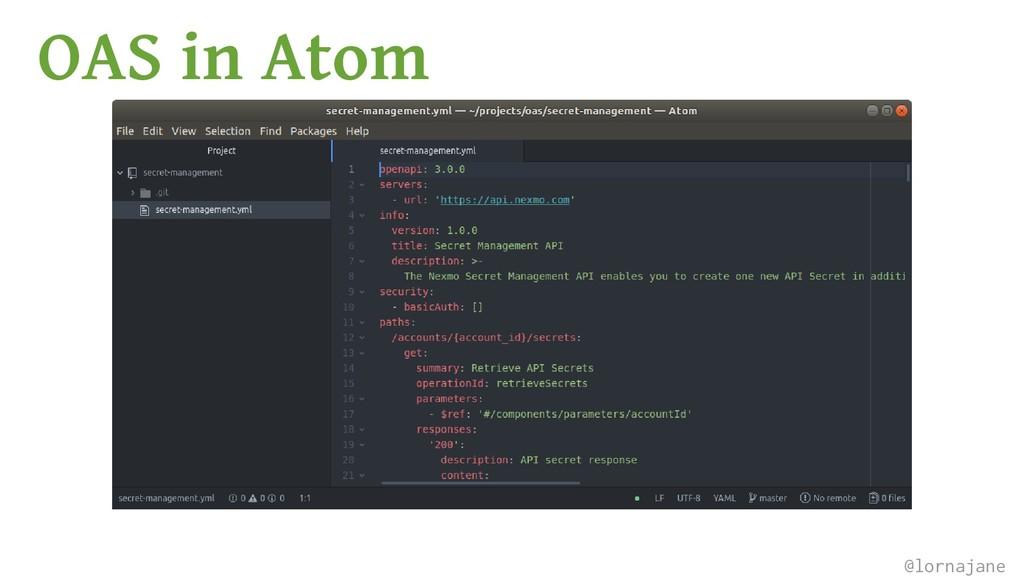 OAS in Atom @lornajane