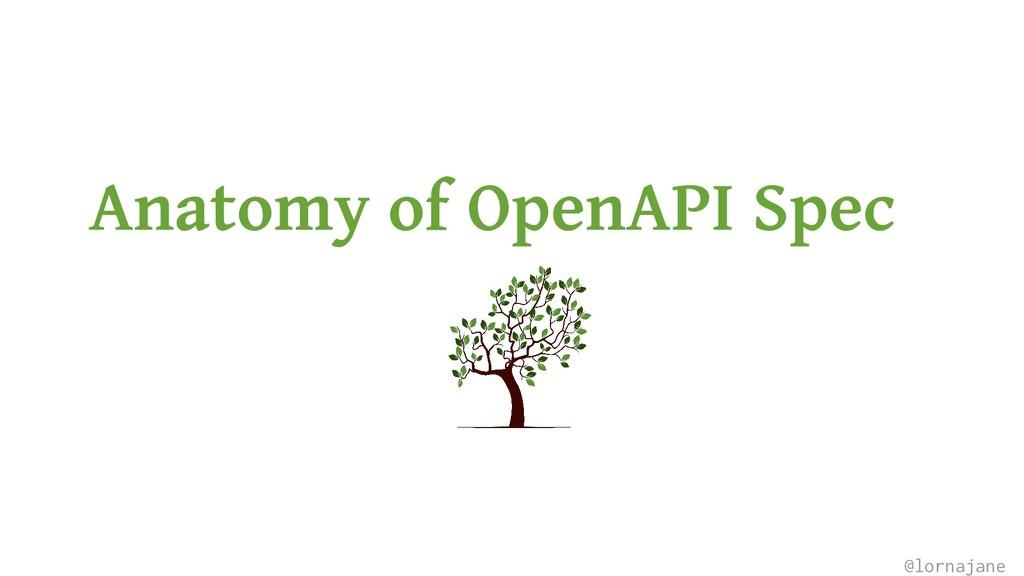 Anatomy of OpenAPI Spec @lornajane
